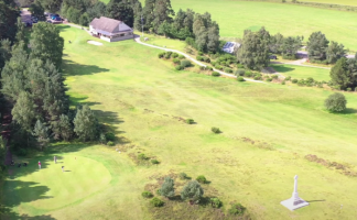Aerial image of clubhouse